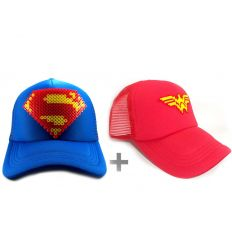 Gorra Superman - Gorra Wonder Woman Combo